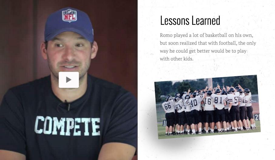Dallas Cowboys Interactive Biography