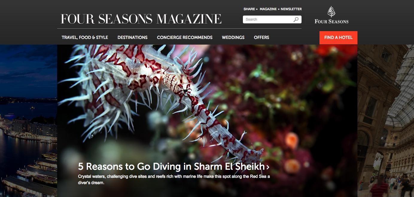 Four Seasons Magazine Content Marketing Example