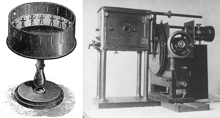 early flipbook zoetrope and zoopraxiscope