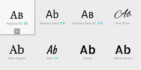 Google Font Family
