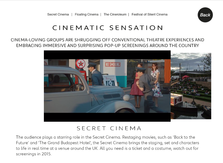Interactive Magazine: interactive slideshow